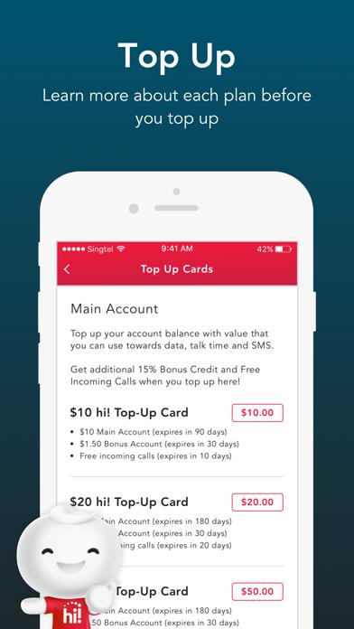 Singtel Prepaid hi!Appのおすすめ画像3