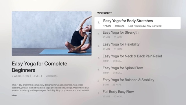 ‎Daily Yoga: Training & Fitness Screenshot