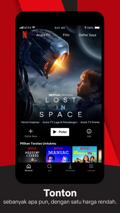 Screenshot for Netflix in Indonesia App Store