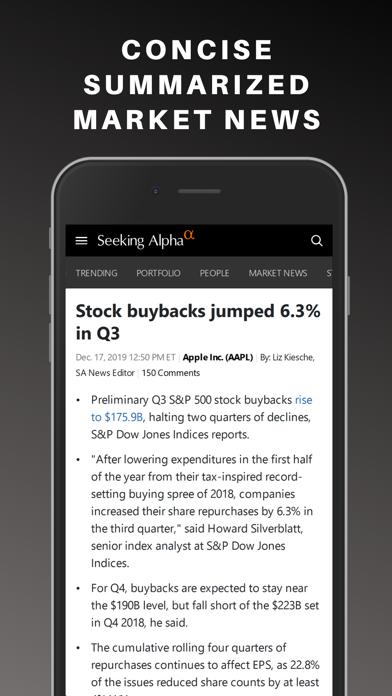 Seeking Alpha: News & Analysis Screenshot