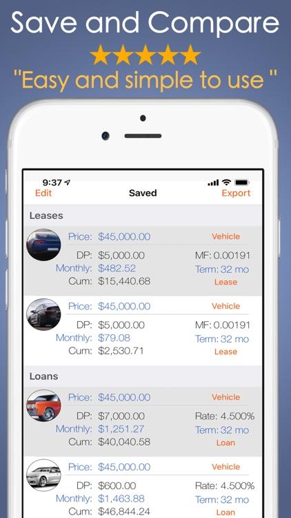 Car Payment Calculator Mobile screenshot-3