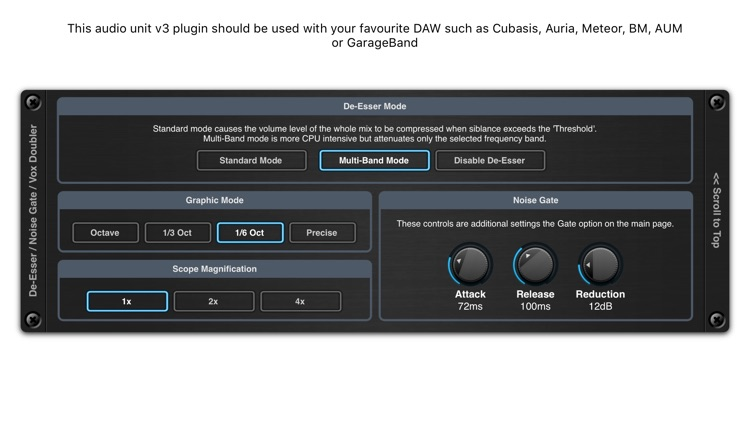De-Esser AUv3 Audio Plugin screenshot-3