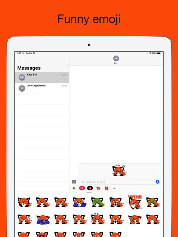 Foxy fox - emoji stickers pack screenshot 8