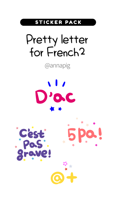 Pretty letter for French2 screenshot 1