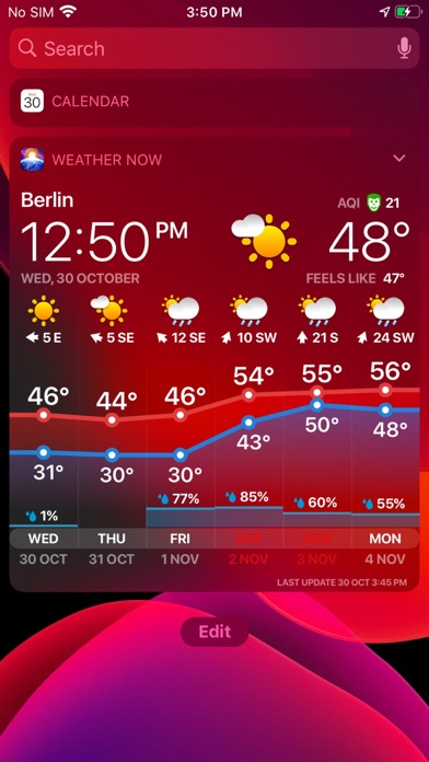 WEATHER NOW - daily forecast Screenshot