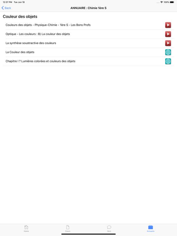 Chimie 1ère S screenshot 13