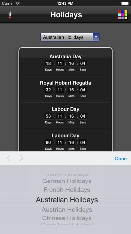Holidays Countdown
