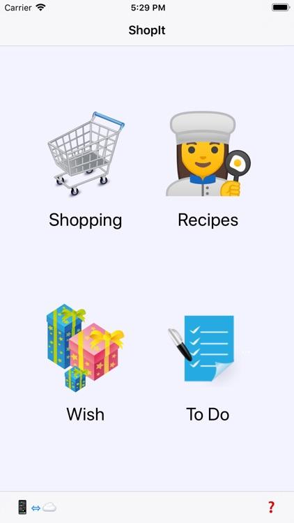 ShopIt - Grocery Shopping List screenshot-0