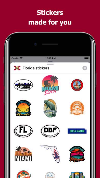 Florida emojis - USA stickers screenshot 1