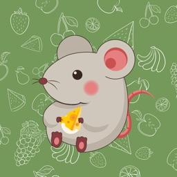 灰色老鼠Stickers