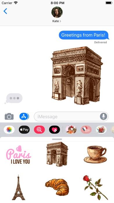 Paris Chic Stickerpack screenshot 1