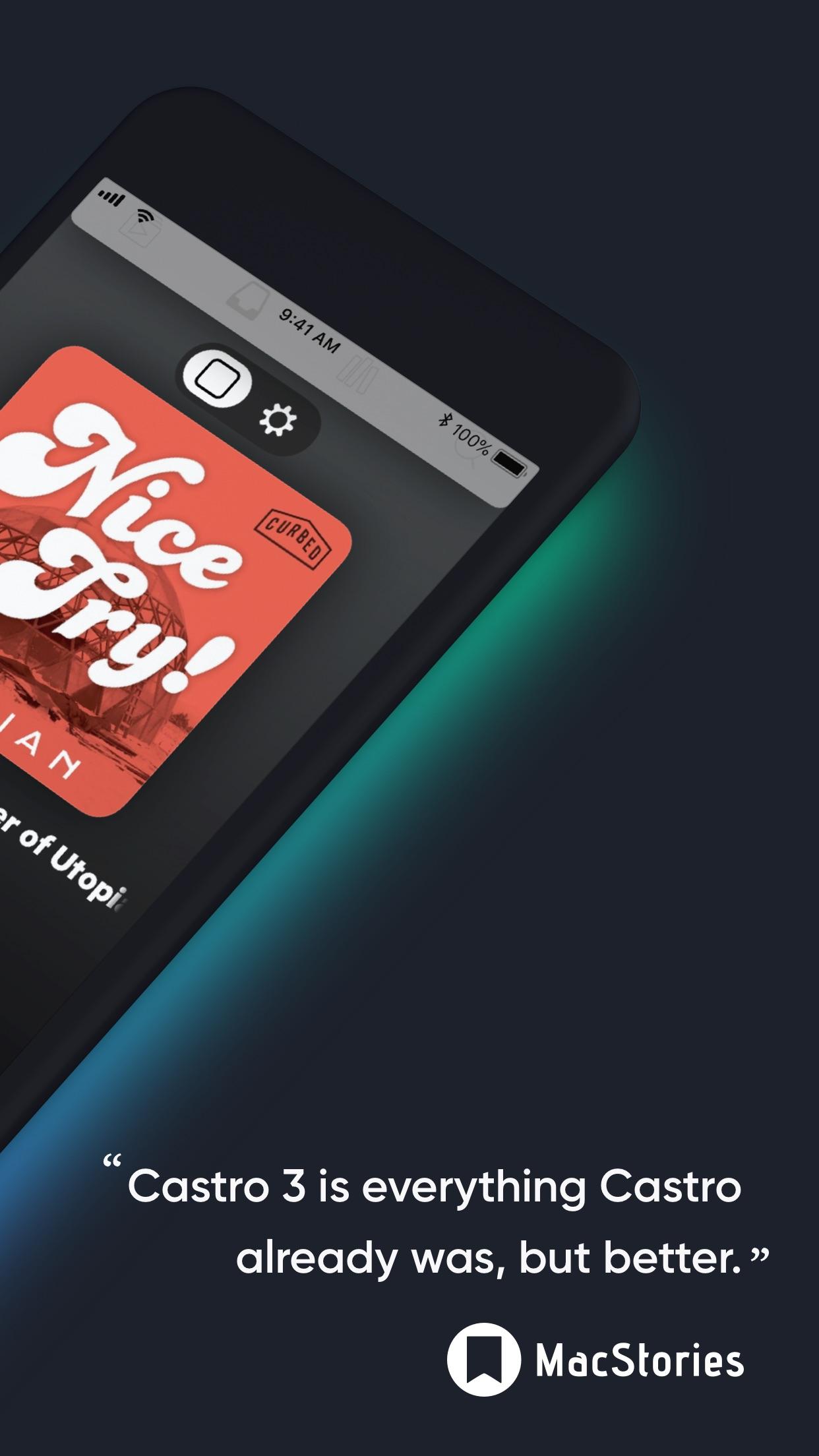 Screenshot do app Castro Podcast Player