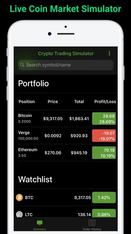 Coin Market Simulator
