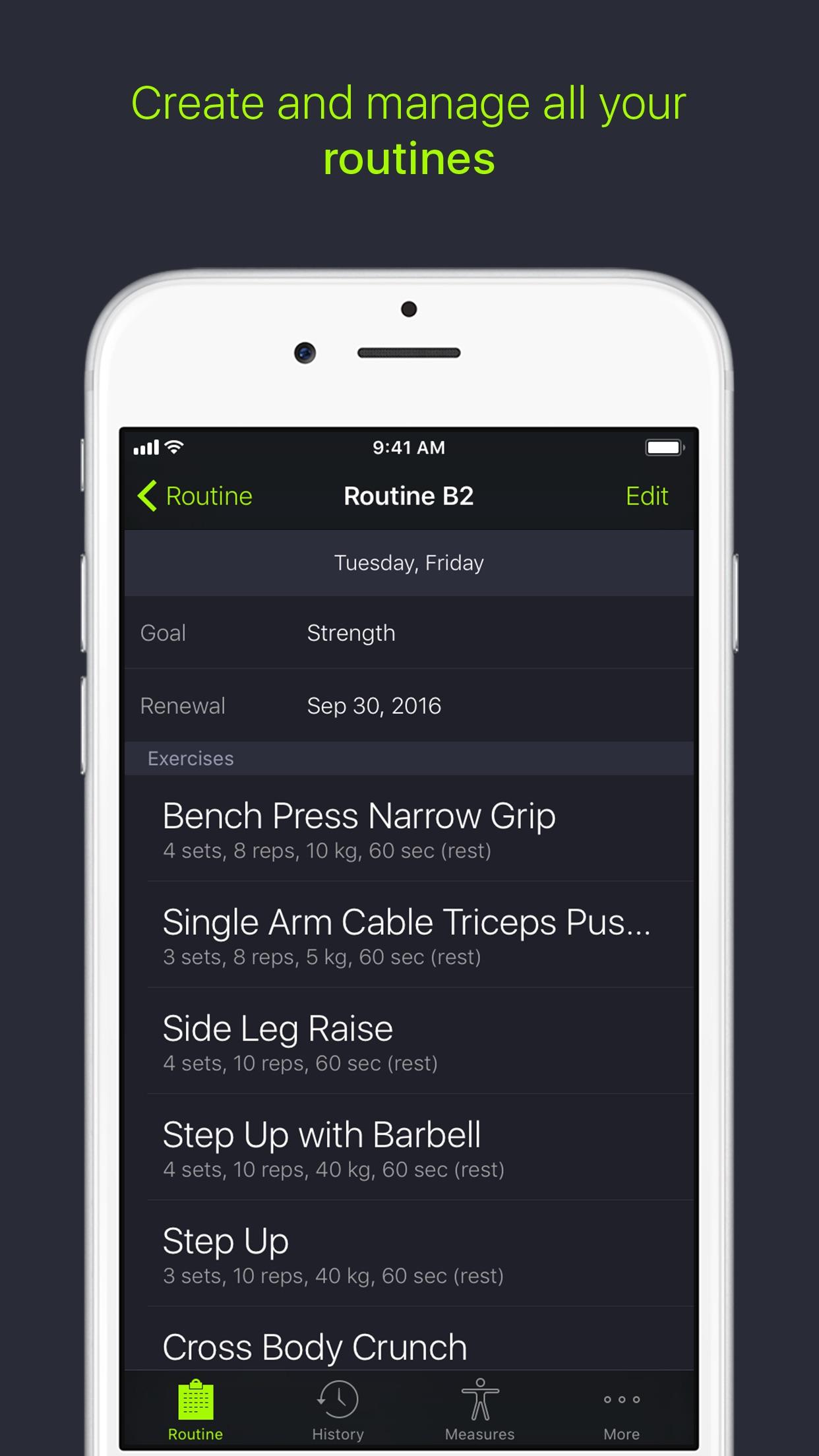 Screenshot do app SmartGym: Gym & Home Workouts
