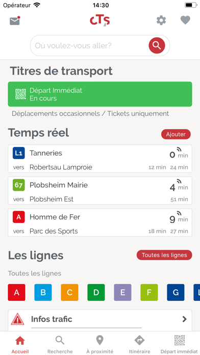 Screenshot #1 pour CTS Transports Strasbourg
