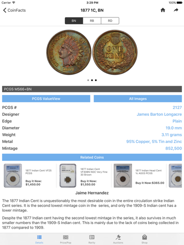 PCGS CoinFacts Coin Collecting - náhled
