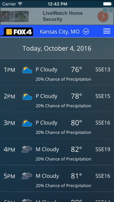Screenshot for WDAF Fox 4 Kansas City Weather in United States App Store