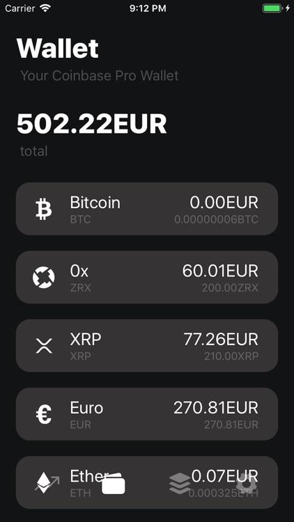 Coinbase Pro Unofficial Crypto