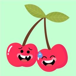 Cherry emoji sticker 2020