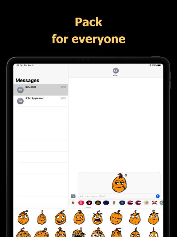 Halloween Mem emoji - pumpkin screenshot 9