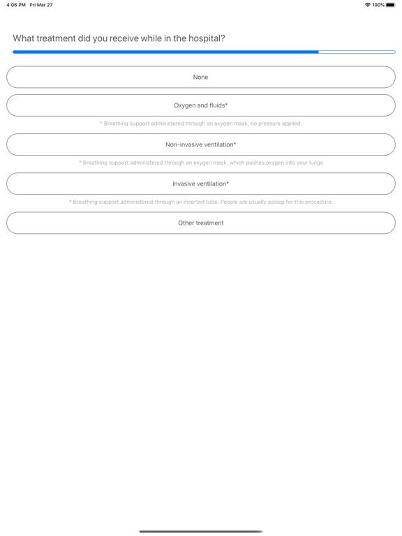 iPad Image of COVID Symptom Study
