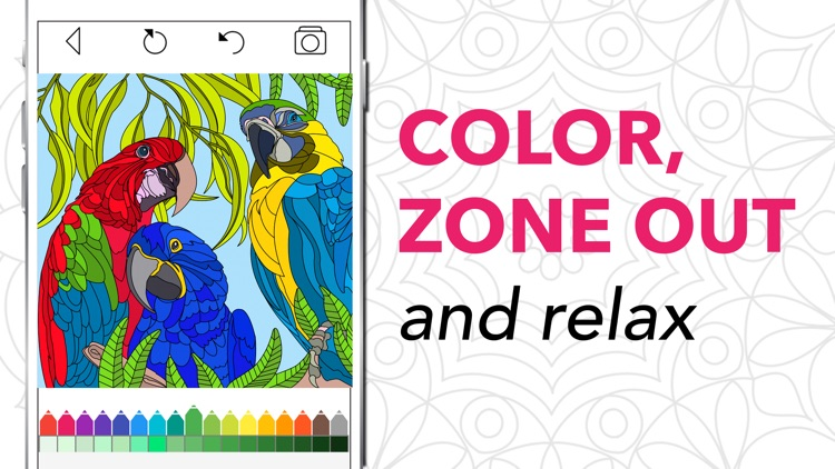 Coloring Book for Adults + screenshot-3