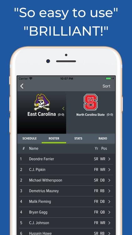 East Carolina Football App