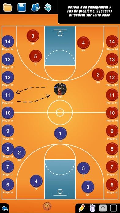 Screenshot #2 pour Planche Tactique: Basketball++