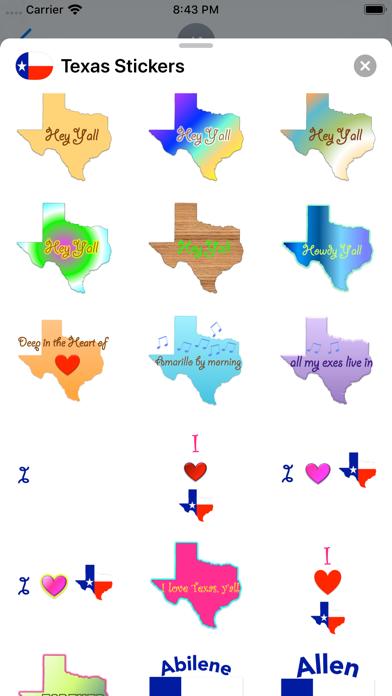 Texas Stickers screenshot 5