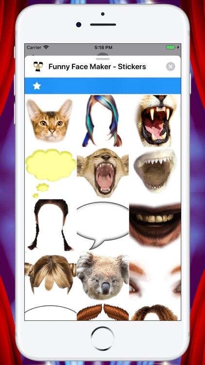 Funny Face Maker - Stickers screenshot-4