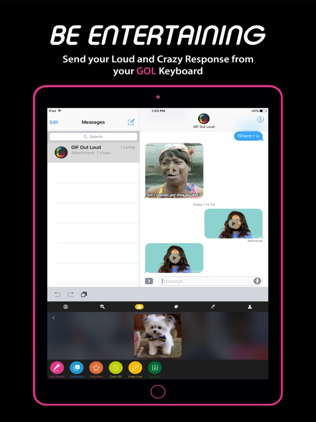 Gif Out Loud- Gif with Sound on the App Store