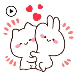 Animated Mimi and Neko Sticker