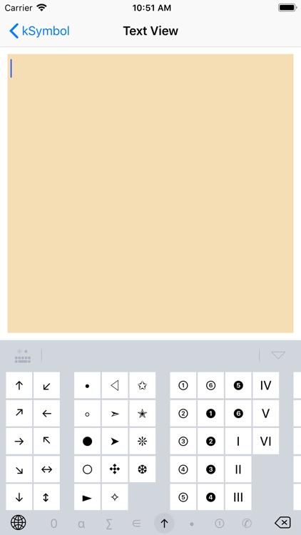 kSymbol - Symbol Keyboard