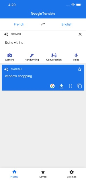 Google Translate on the App Store