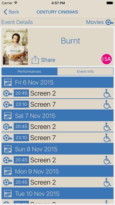 Century Cinemas screenshot three