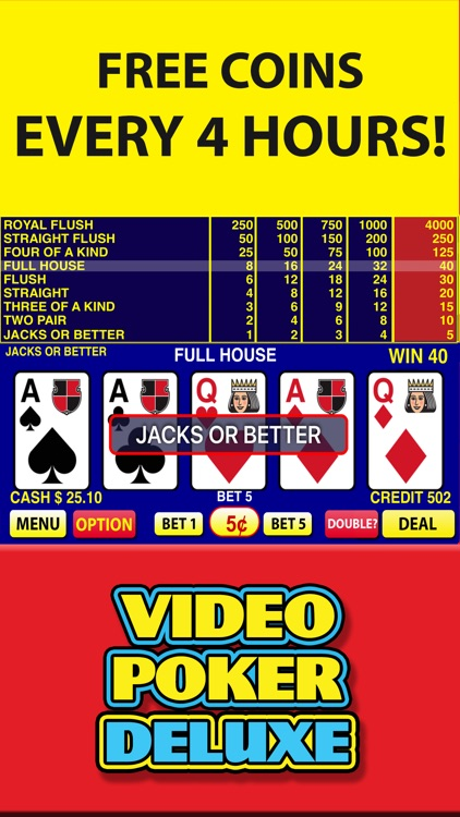 Video Poker Deluxe Casino screenshot-2