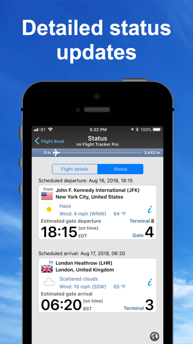 Screenshot for mi Flight Tracker Pro Radar 24 in Denmark App Store