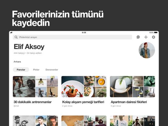 Pinterest ipad ekran görüntüleri