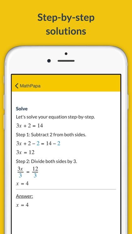 MathPapa - Algebra Calculator
