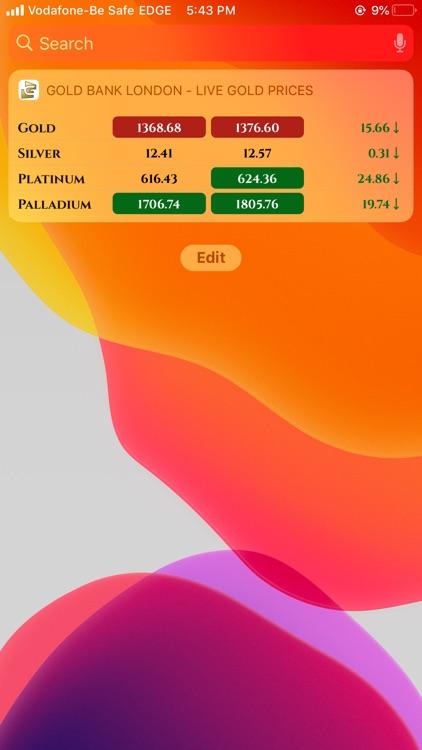 Gold Bank - Live Gold Prices screenshot-5