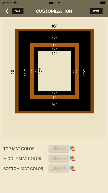 iWasFramed Matting Calculator screenshot-6