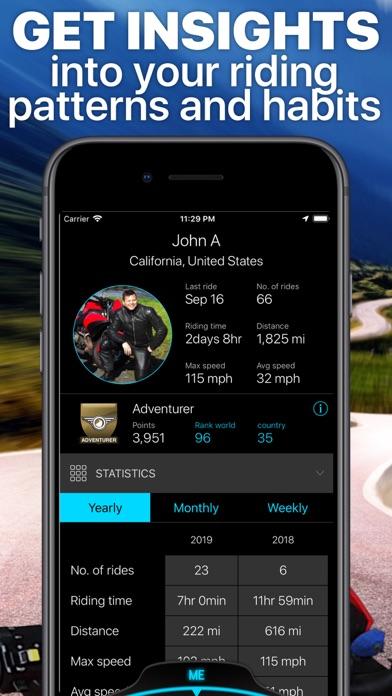 Scenic Motorcycle Navigation Screenshot