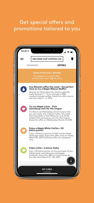 Second Cup Coffee Co ™ on the App Store