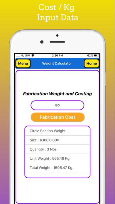Fabrication Weight Calculator screenshot 9