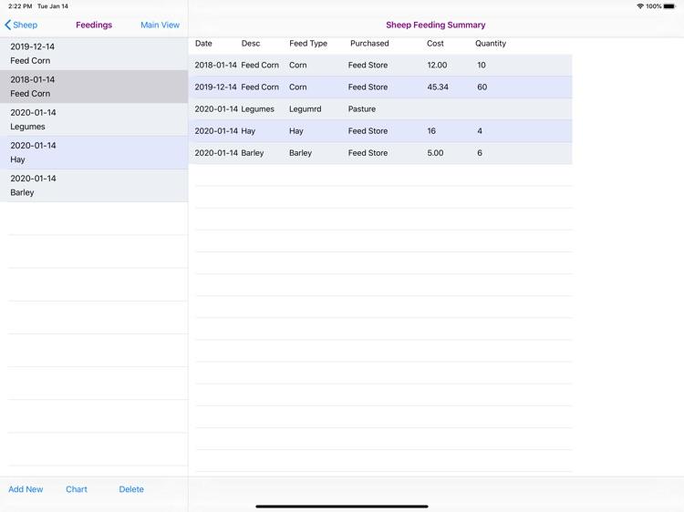 Sheep Feeding Database screenshot-8