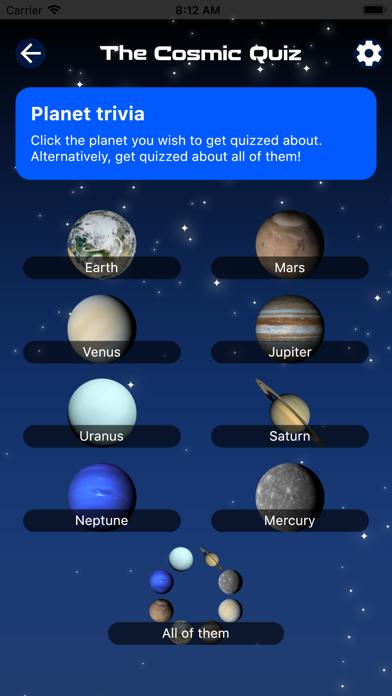 The Cosmic Quiz Pro Screenshot