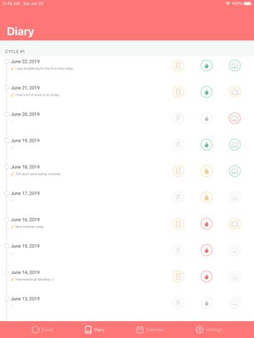 Screenshot of Circle - Contraceptive Ring