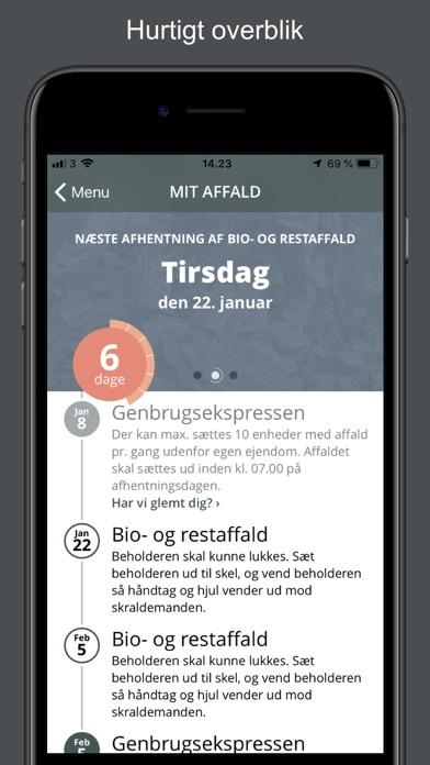 Screenshot for Affald Thy in Denmark App Store