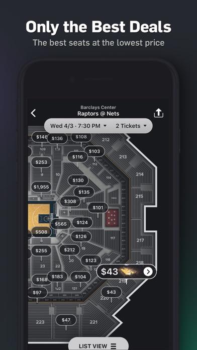 Gametime Last Minute Tickets review screenshots