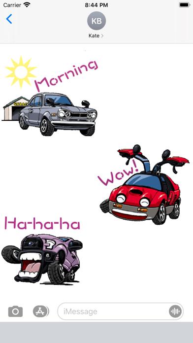 Animated Funny Car Sticker screenshot 1